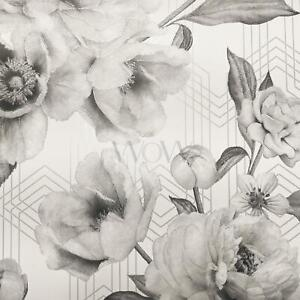 Belgravia-Decor-Stella-Geometrique-Floral-Paillette-Papier-Peint-Mono-9752