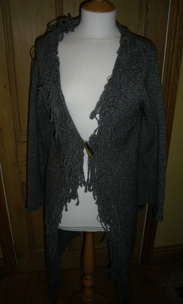 QUIRKY CELTIC CLOTHING CARDIGAN, SIZE SMALL, BROWN CREAM COLOUR, ALL-YEAR WEAR