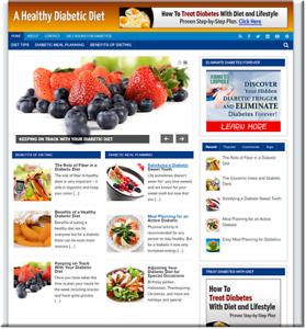 Diabetic-Diet-Turnkey-Website-Business-earn-from-affiliate-adsense