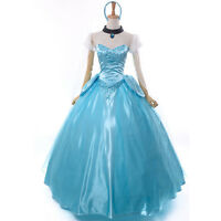 Belle Scarlett Sandy Princess Ball Prom Dress Cinderella Costume Adult Cosplay