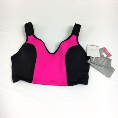Marika High Impact Size 42 D Underwire Hot Pink /& Black Sports Bra NWT
