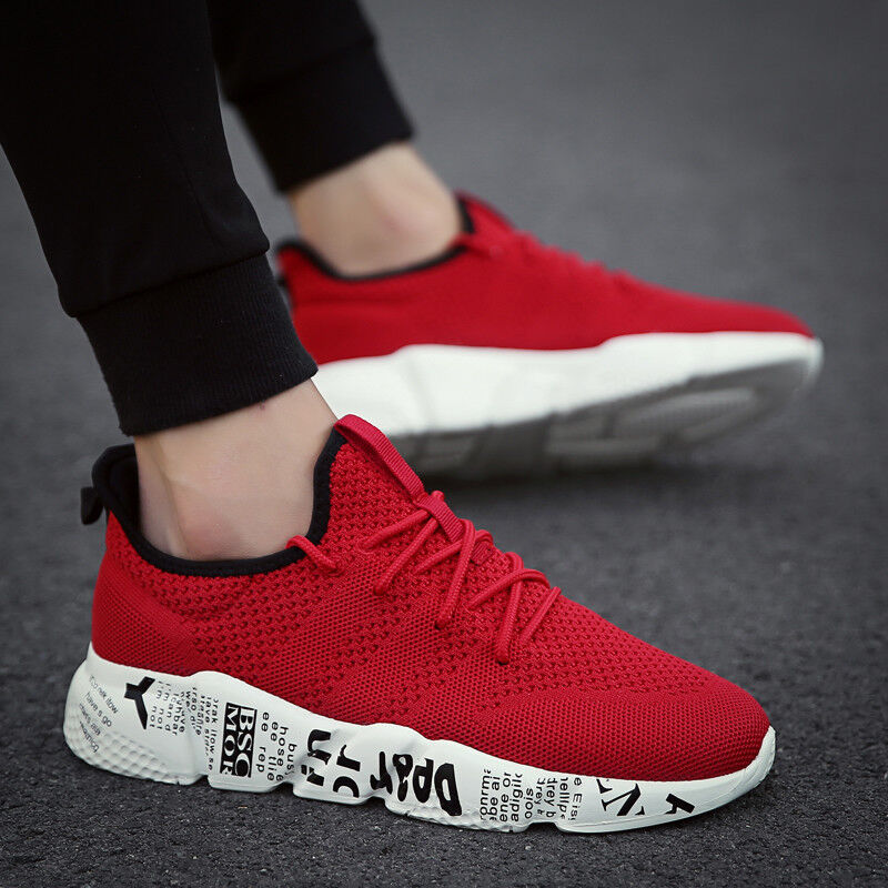 Fashion Mens Running Shoes Outdoor Breathable Mesh Sports Sneakers Walking Shoes