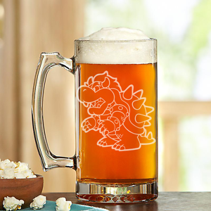 Custom Made Beer Stein SANDBLASTED!!! Bowser-
