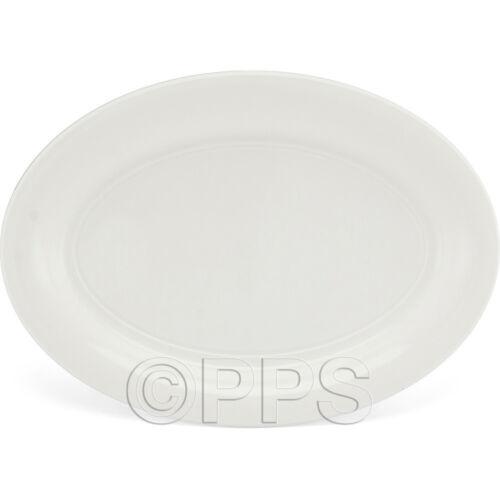White Disposable Plastic Serving Platter 40cm x 28cm Party Event BBQ Buffet