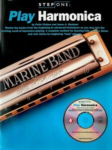 NEW! SCHOOL OF BLUES METHOD BOOK//CD SET BLUES HARMONICA ACCOMPANIMENT PLAYING
