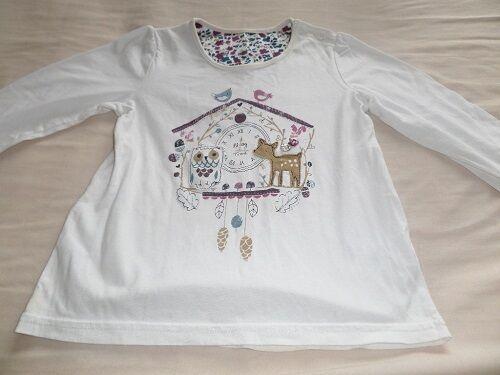 d429bc0d58cc 1 of 5FREE Shipping Matalan Girls White Animal Clock Print 100% Cotton  T-Shirt Size 3-4