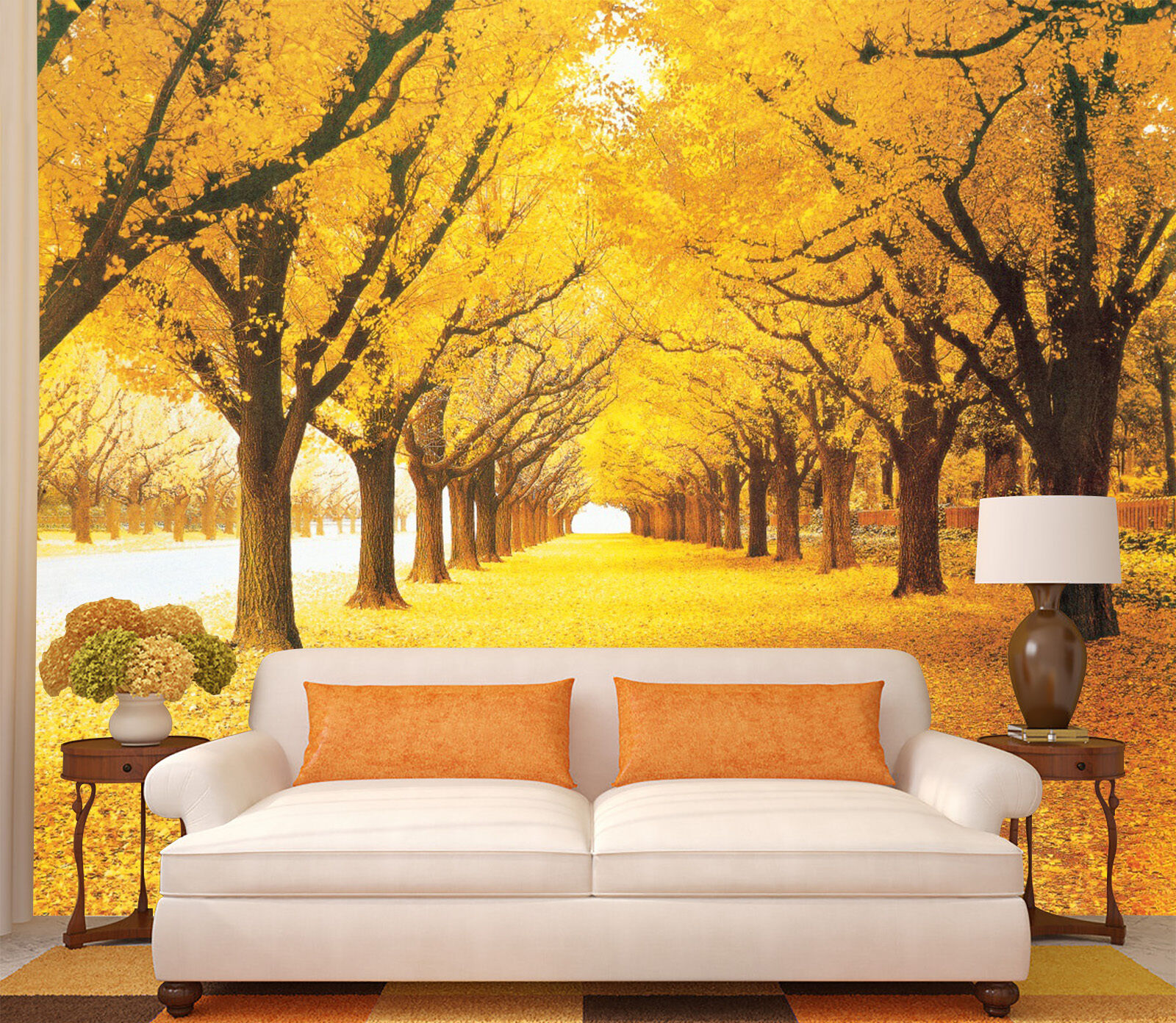 3D Yellow boulevard 55 Wall Paper Wall Print Decal Wall Deco Indoor wall Murals