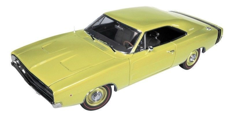 1 18 Authentics Autoworld 1968 Dodge Charger R T SS1 Yellow