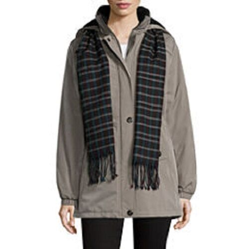 NEW St. St. St. John's Bay® Women's Puffer with Scarf Coat 2633028 3ffe72