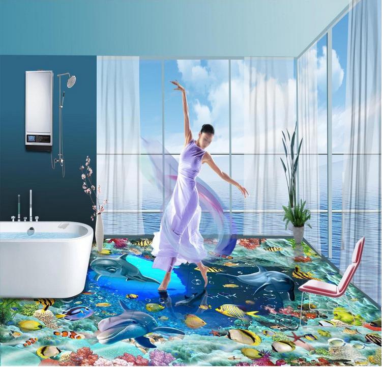 3D Dolphin Ozean 507 Fototapeten Wandbild Fototapete Tapete Familie DE Lemon