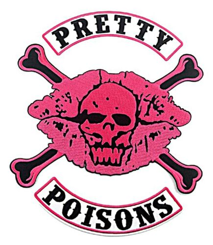 Riverdale Tv Series Pretty Poisons 3 Piece Set Iron on Large Jacket Patches