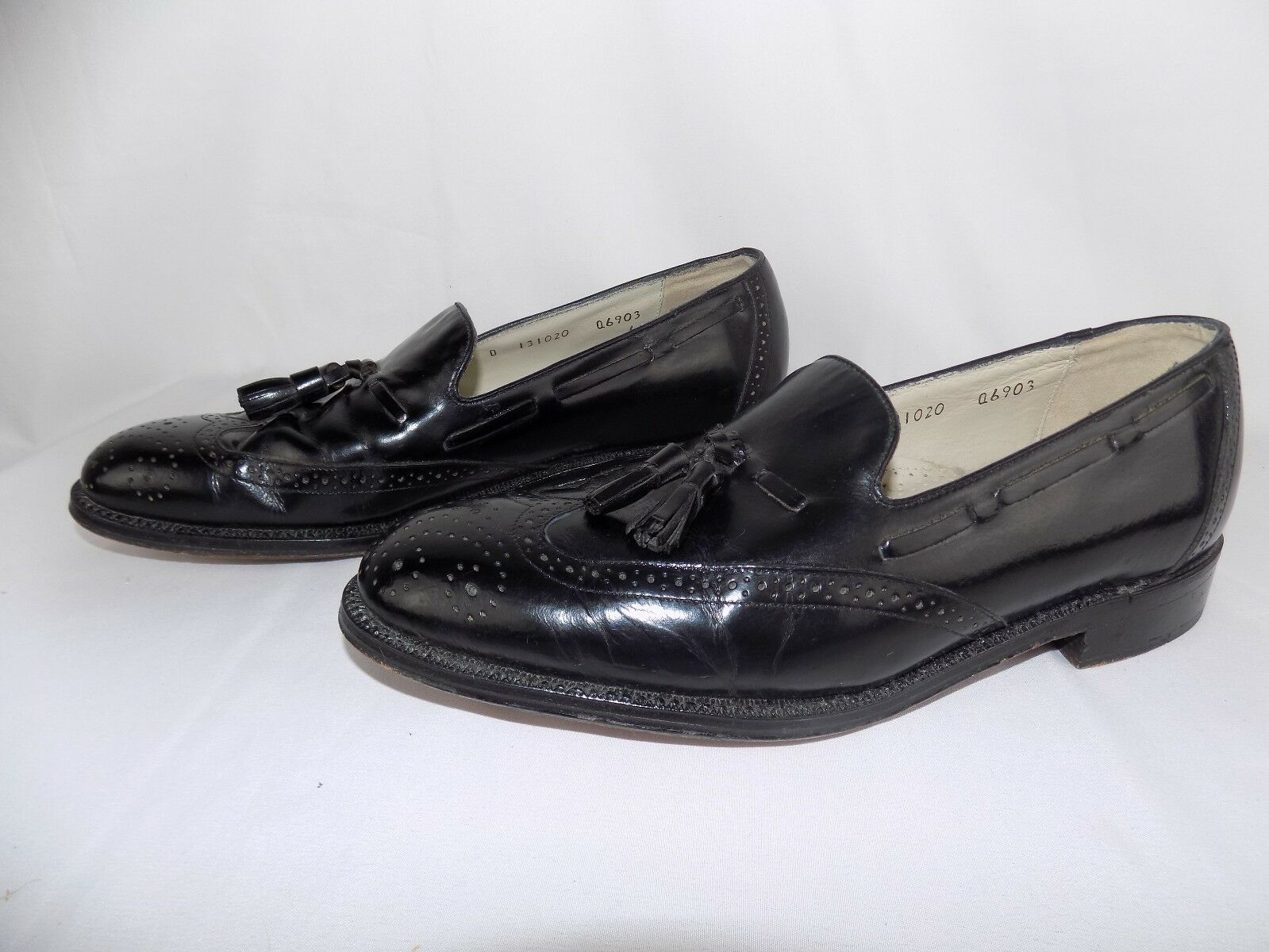 Brownstone Collection Black Leather Tassel Men's Slip On Dress shoes Size 9 D