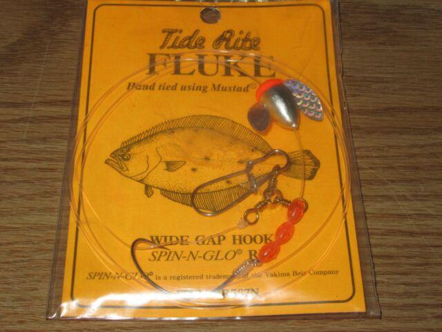 12 FLUKE RIGS FLATFISH TIDE RITE R559LG FLOUNDER SALTWATER RIG FISHING MUSTAD