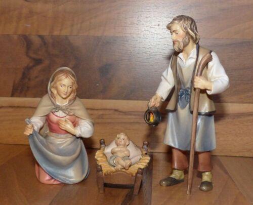 Krippenfiguren Hirten Krippe - Heilige Familie 10cm - Holz geschnitzt - Neu