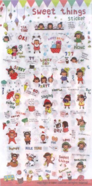 Roller Coaster Sweet Things Transparent Sticker Sheet Set~KAWAII!!