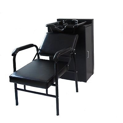 square shampoo bowl black cabinet beauty salon furniture