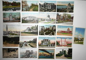 LOT-OF-48-NEW-YORK-CITY-NYC-NY-POSTCARDS-SOME-WORLD-039-S-FAIR-amp-DETROIT-PUBL-ETC