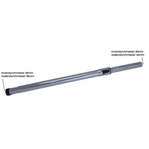 Staubsaugerrohr Saugrohr Teleskoprohr Alu//Chrom passend für Einhell Staubsauger