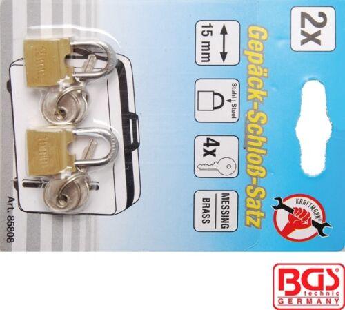 85808 Kraftmann Luggage Padlock Set 15mm 2-Pcs