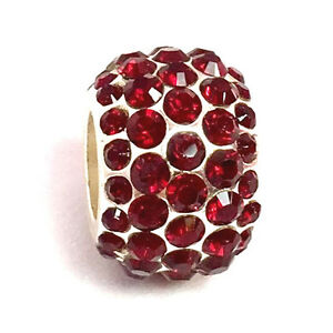 Authentic-Brighton-Ice-Diva-Red-Bead-J9240-Silver-Finish-Crystals-New