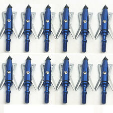 12X Rage Chisel 100 Grain 2 Blade Broadhead Archery Arrow Heads for Bow Crossbow