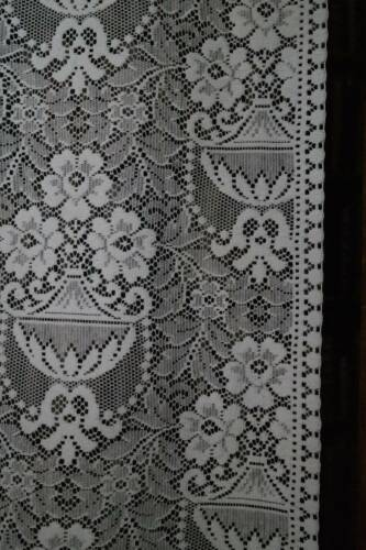 "Scottish White Cotton Lace Curtain Panelling Yardage  44""Portia Period design"