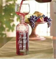 Ultimate Wine Bottle Glass Holds A Whole Drink 750ml - Big Mouth Toys