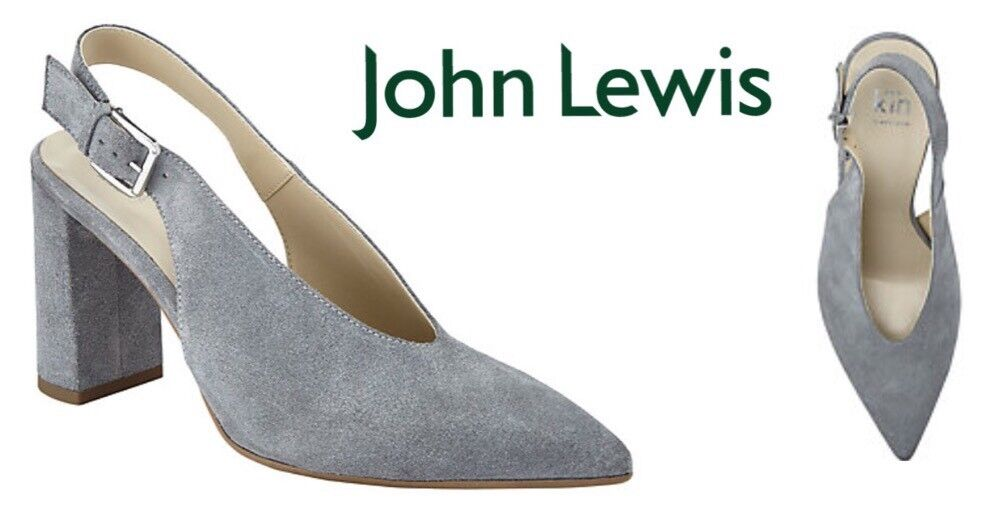 Ladies Shoes KiN By John Lewis Clara Slingback Grey Size4 New Free Delivery