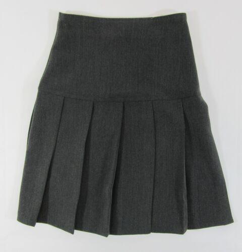 Le Ragazze Donna School Uniform Gonna Nero Grigio plissettato al ginocchio zip 5-16