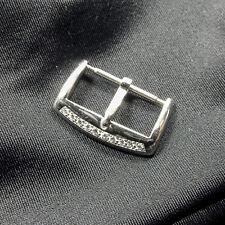 Franck Muller Solid 18K White Gold Tang Buckle w/Org. Fact. Diamonds Set 18mm