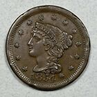 1854  Braided Hair Large Cent 1C