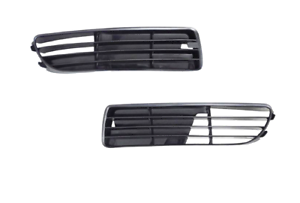 2x-Parrilla-de-parachoques-Delantero-Derecha-Audi-A4-B5-8D2-1994-2000-NEGRO