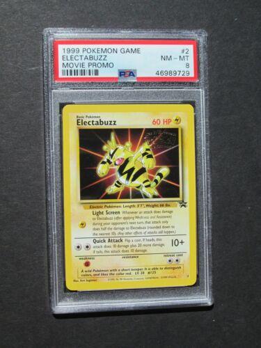 NM//MINT Pokemon PSA 8 ELECTABUZZ #2 WB MOVIE PROMO 1999