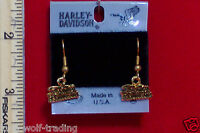Official Vintage Harley Davidson Dangle Earrings-h120g-de