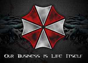 Umbrella Corporation Resident Evil Game Car Bumper Window