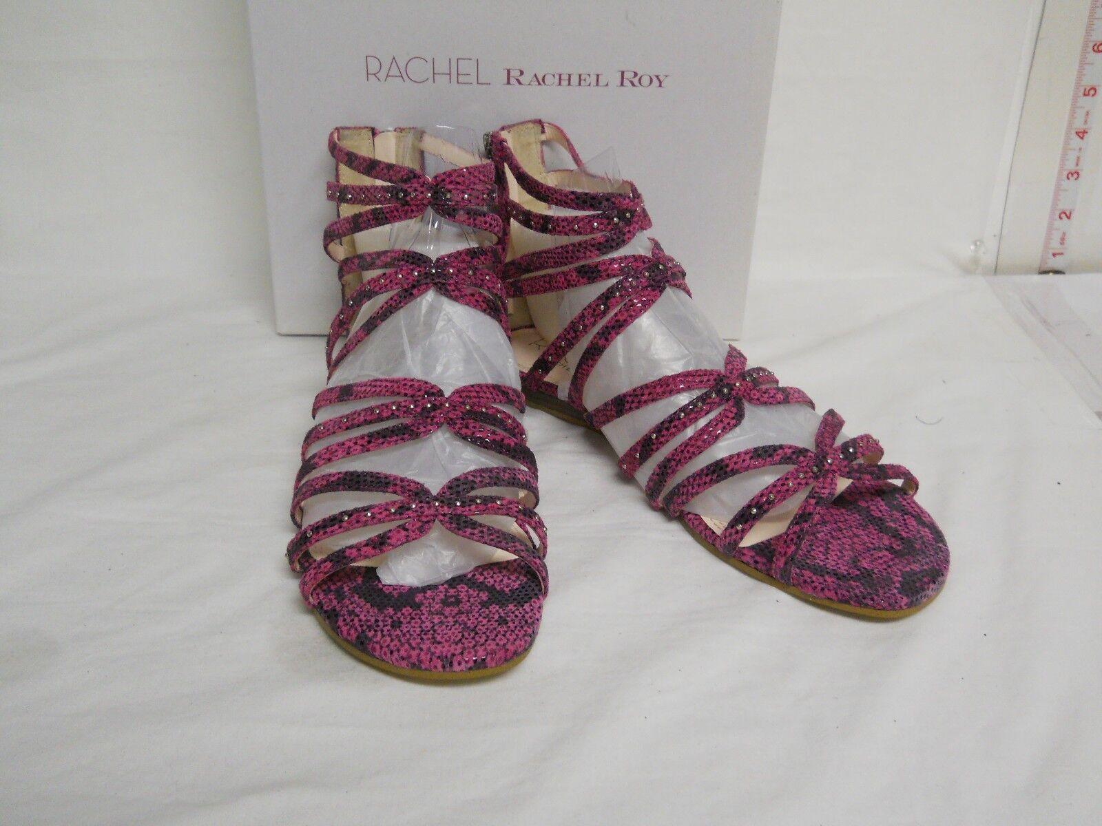 Rachel Roy New Womens Sitrus Pink Reptile Gladiator Sandals 7.5 M shoes