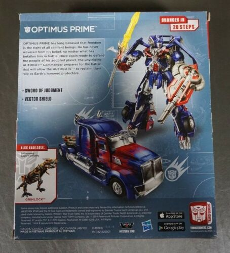 Optimus Prime TRANSFORMERS Generations Age of Extinction Leader Class MIB
