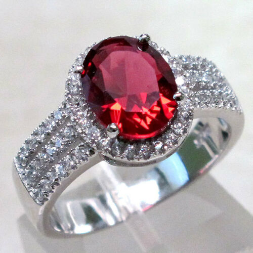 Cool 3 Ct RUBY 925 Sterling Silver Ring Taille 5-10