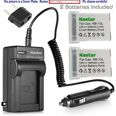 Compatible with Canon G7X Canon PowerShot G7X Canon NB-13L Replacement NB-13L Charger with Car Plug EU Adapter for Canon Canon G7 X Canon PowerShot G7 X