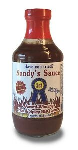 Sandy-039-s-Sauce-Hot-amp-Spicy-BBQ-18-oz-Gluten-Free-Corn-Free-No-MSG-All-Natural