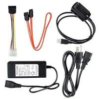 "USB2.0 to SATA PATA IDE 2.5"" 3.5"" HDD SSD Hard Drive Adapter Transfer Cable BG"