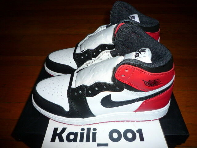d2dabca627bf Air Jordan 1 Retro High OG BG Black Toe 575441-125 Size 4y 4 for sale  online