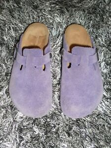 birkenstock lavender suede