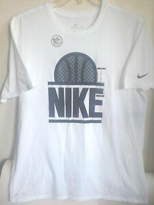 shirt 100 T d'origine Emblemblanc904426 Ball Nike Drifit q4Lc5AR3j