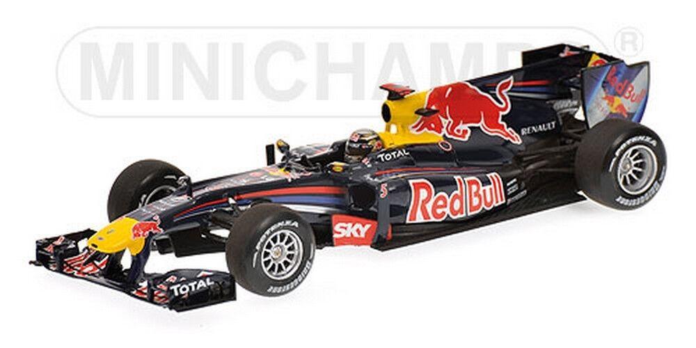 rouge Bull RB6 1er GP Brésil 2010 Vettel 1 43 Minichamps 410100205