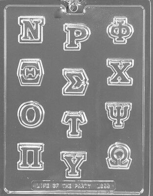 GREEK LETTERS N - OMEGA ALPHABET Chocolate Candy Soap molds L55