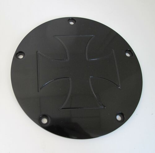 BLACK 5-HOLE MALTESE CROSS DERBY /& POINTS COVER KIT 99-13 HARLEY BIG TWIN