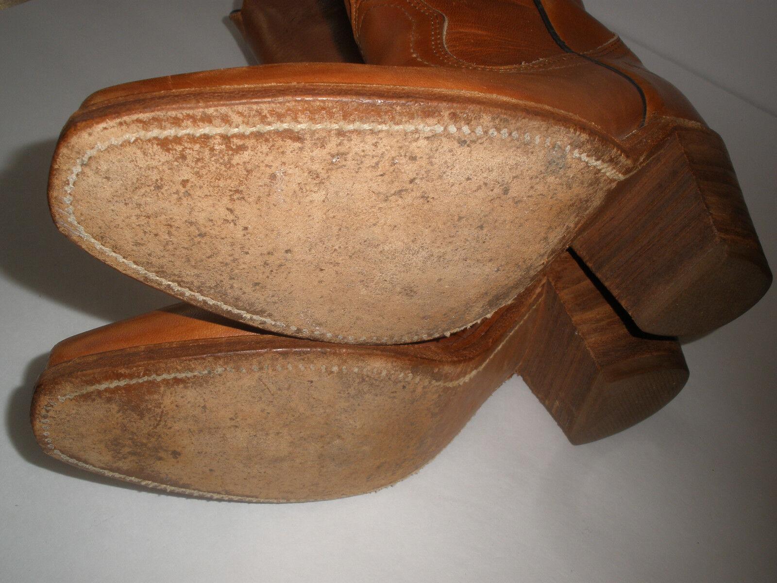 Frye Cowgirl botas De Hot Cuero Talle Us 5.5 Hot De Vintage Hecho En Usa cd24f3