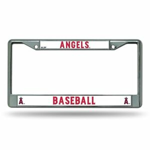 Los Angeles Angels MLB Baseball Chrome Auto Car License Plate Frame