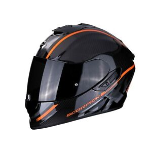 Casque-Helm-Casque-Helmet-Scorpion-Exo-1400-Air-Carbone-Grand-Orange-Taille-L